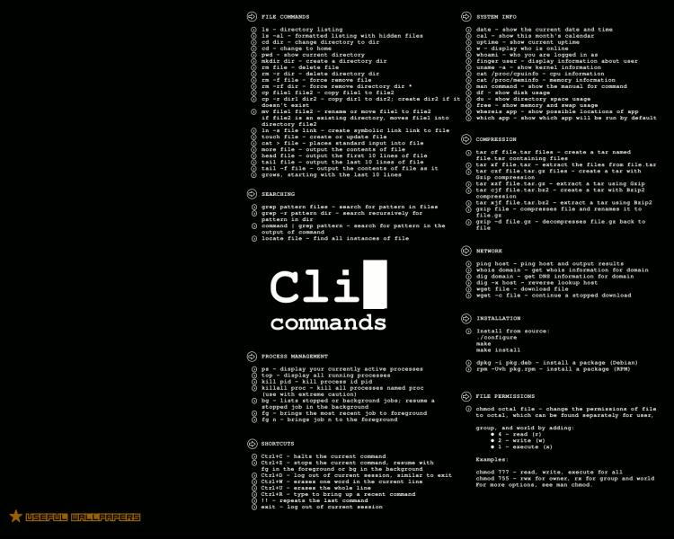 Wallpaper de Comandos Linux